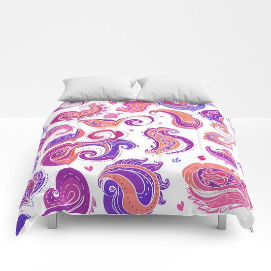 Indian Paisley Pattern 01 Comforters