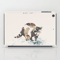 racoon iPad Cases featuring Racoon Illustration by Caroline Campeau