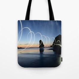 Ocean light rays Tote Bag