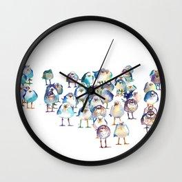 Winter Birds Wall Clock