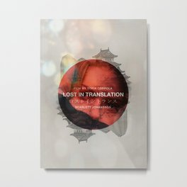 Lost in Translation - Charlotte/Scarlett Metal Print