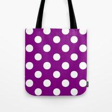 Polka Dots (White/Purple) Tote Bag