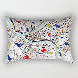 Pittsburgh City Map of the United States - Mondrian Rectangular Pillow