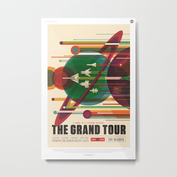 The Grand Tour : Vintage Space Poster Metal Print