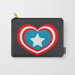Cap America Heart Carry-All Pouch