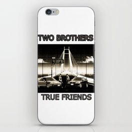 Two Brothers True Friends - by HS Design iPhone Skin