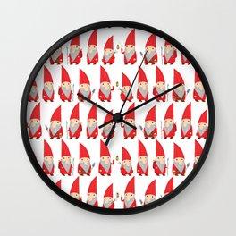 Gnome Pattern Wall Clock