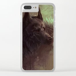 Wolfs Abstraction Clear iPhone Case