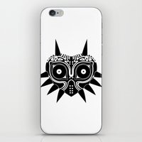 majoras mask iPhone & iPod Skins featuring Majoras Mask by Tom Milburn