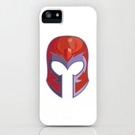 Magneto Superhero Mask iPhone Case