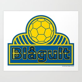 Sweden Blågult (The Blue-Yellow) ~Group F~ Art Print