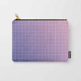 purple / pink - grid Carry-All Pouch