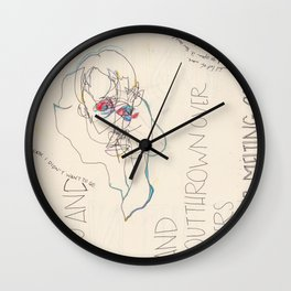 Disintegral Fragment Wall Clock