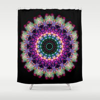 tooth Shower Curtains featuring Sweet Tooth by KAndYSTaR