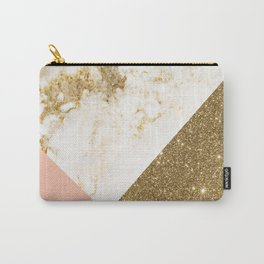 Gold marble collage Carry-All Pouch