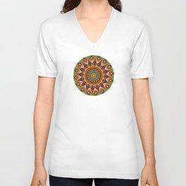 Colorful Jellybean Mandala Unisex V-Neck