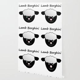 Lamb Borghini funny Sheep Pun Wallpaper
