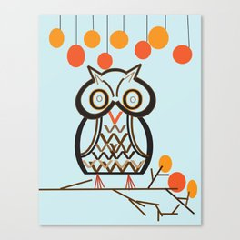 The Owl In Myriad Pro Canvas Print