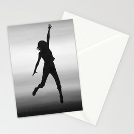 Body Movin - Touch the Sky B&W Stationery Cards