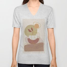 Abstract Modern Art 16 Unisex V-Neck