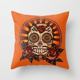 Mexican Skull 2 Throw Pillow