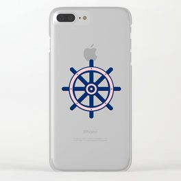 AFE Nautical Helm Wheel 2 Clear iPhone Case