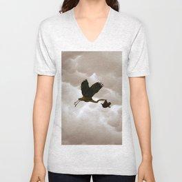 The stork Unisex V-Neck