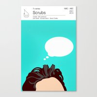scrubs Canvas Prints featuring Scrubs Tv books by Fabio Castro