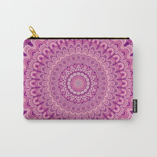 Pink flower mandala Carry-All Pouch