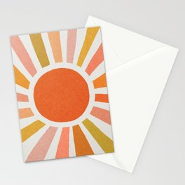 Morning sun mid century art Stationery Cards