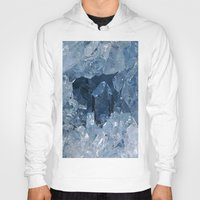 minerals Hoodies featuring Blue Gemstone by Kristiana Art Prints