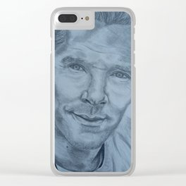 Benedict Cumberbatch 41st Birthday Portrait Clear iPhone Case