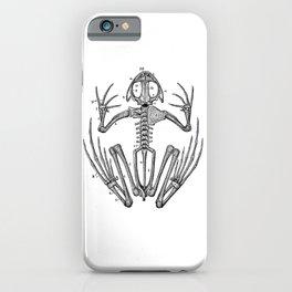 Frog skeleton iPhone Case