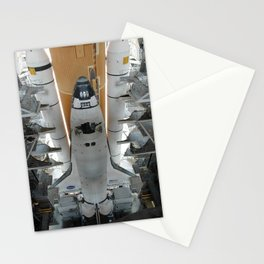 929. From high bay 3 of NASA's Vehicle Assembly Building, Space Shuttle Discovery begins its slow 4.2-mile journey via the crawlerway to Launch Pad 39B Stationery Cards