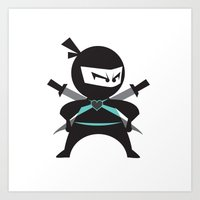 Ninja (with heart) Art Print