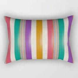 """Colorful Vertical Lines Burlap Texture"" Rectangular Pillow"