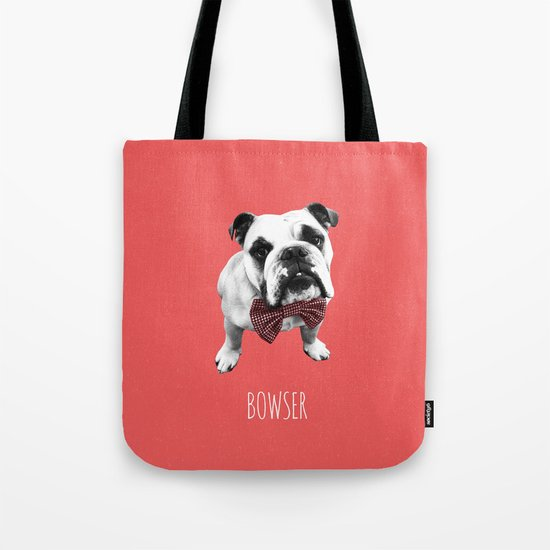 Red Bowser Tote Bag