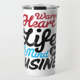 Business Typography Travel Mug