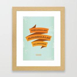 Subhanallah Alhamdulillah Allahuakbar Framed Art Print