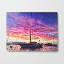 Sky Pillow & Yacht Metal Print