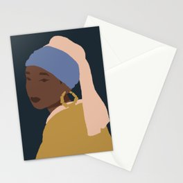 The Girl With A Bamboo Earring Stationery Cards