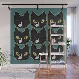 Cute Tuxedo Cats Wall Mural
