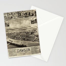 Aerial View of Dawson, Pennsylvania by T.M. Fowler (1902) Stationery Cards