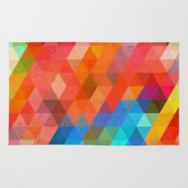 Color Triangles Rug
