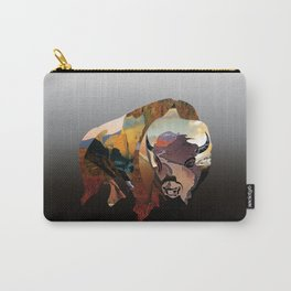 Bison Mountain Collage  Carry-All Pouch