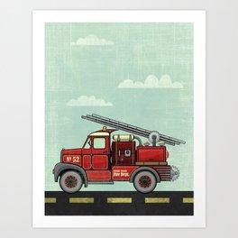 Atomic County Fire Department Art Print