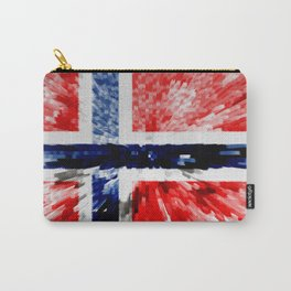 Extruded Flag of Norway Carry-All Pouch