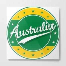 Australia, circle, green yellow Metal Print