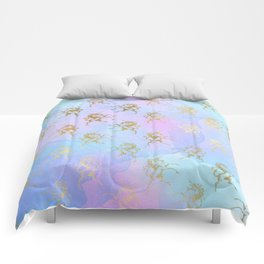 Golden Unicorn Comforters