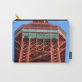 Top Of Blackpool Tower On A Blue Sky Day  Carry-All Pouch